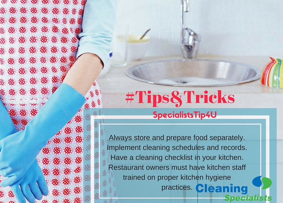 hygiene 101: keep calm and keep the kitchen clean